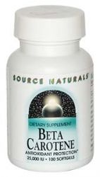 Beta-Carotene  25,000 IU 100 softgels Source Naturals