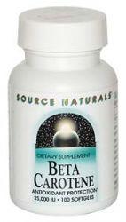 Beta-Carotene  25,000 IU 100 softgels Source Naturals
